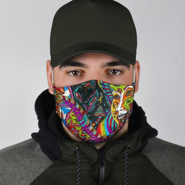 FLSD Trippy Artwork Colorful Tie dye Psychedelic Face Mask