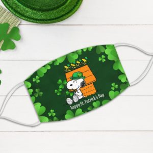Irish Snoopy Leprechaun Hat Happy St Patrick's Day Face Mask