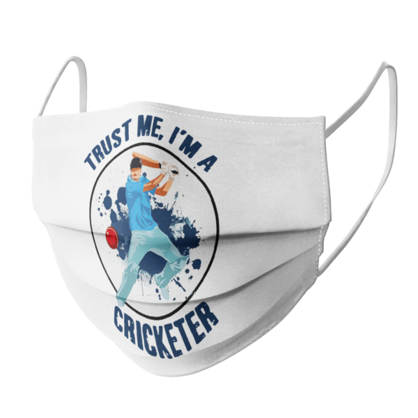 Trust Me Im A Cricketer face mask