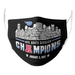 Tennessee Titans 2020 AFC South Division Champions January 3 2021 face mask