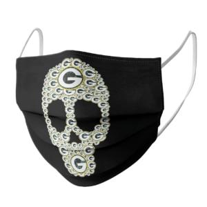Skull Green Bay Packers logo skull face mask