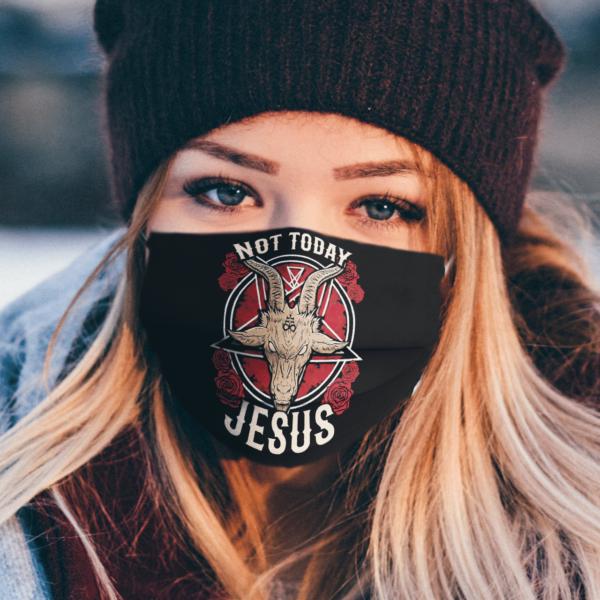 Satan Not Today Jesus face mask