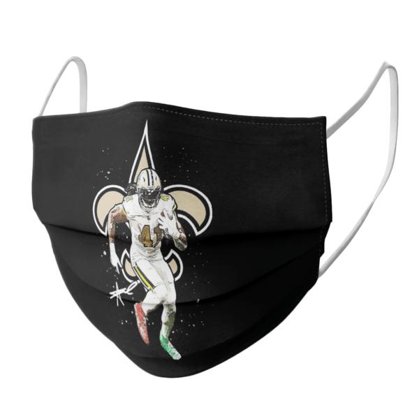 New Orleans Saints Alvin Kamara signature face mask
