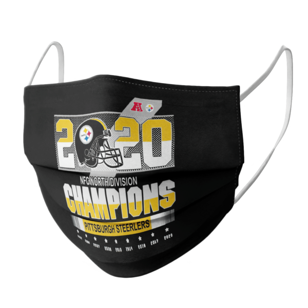 Pittsburgh Steelers Nfc North Division Champions 2002-2020 face mask