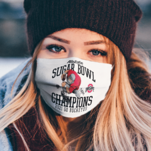 Ohio State Buckeyes Allstate Sugar Bowl Champions 2021 Go Buckeyes face mask