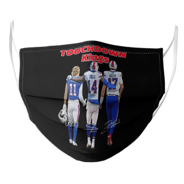 Cole Beasley Stefon Diggs and Josh Allen Buffalo Bills touchdown Kings signatures face mask