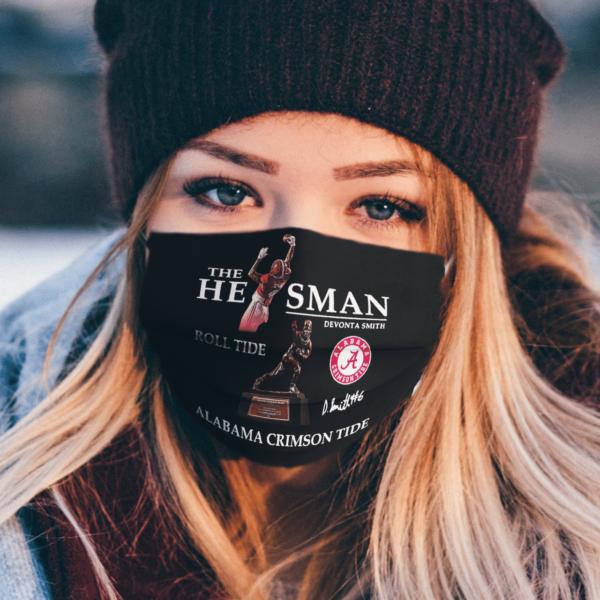 The He Man Devonta Smith Roll Tide Alabama Crimson Tide Signature face mask