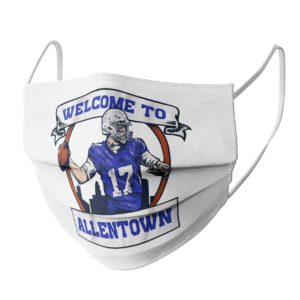 Josh Allen Welcome to Allentown face mask