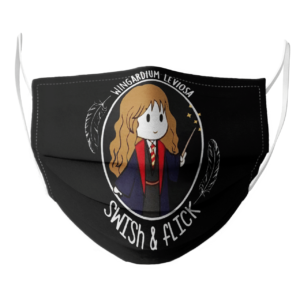 Hermione Wingardium Leviosa Swish and Flick face mask