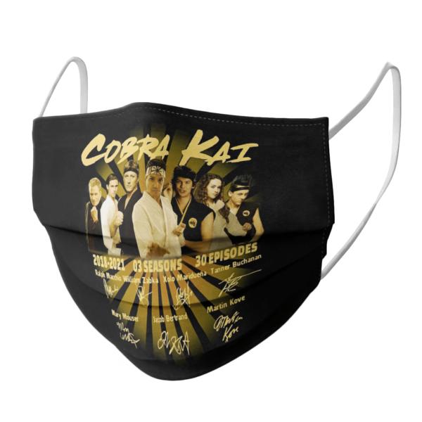 Cobra Kai 2018 2021 03 Season 30 Episodes Thank You For The Memories Signatures face mask