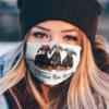 Doberman Mom Squad Flower face mask