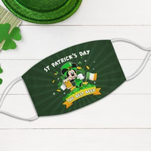 Mickey The Best Beer Leprechaun St Patrick's Day Ireland Flag Face Mask