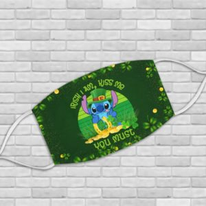 Leprechaun Stitch I Am Irish Kiss Me You Must St Patrick's Day Face Mask