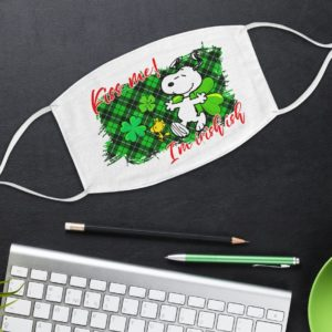 Irish Snoopy Kiss Me I'm Irish-ish Face Mask