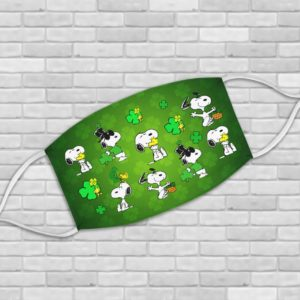 Peanuts Snoopy Happy St Patrick's Day Face Mask