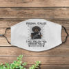 Personal Stalker Dachshund Black Face Mask Cover