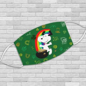 Irish Snoopy Happy St Patrick's Day Face Mask