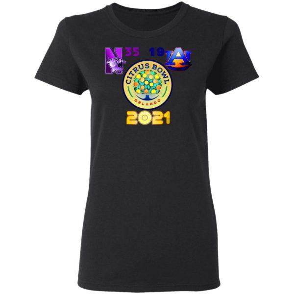 Northwestern Citrus Bowl Champion Shirt, Ladies Tee