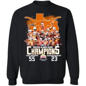 2020 Valero Alamo bowl Champions Texas Longhorns Colorado Buffaloes shirt
