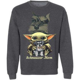 Baby Yoda Hug Schnauzer Mom Shirt