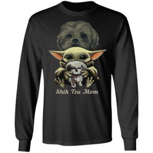 Baby Yoda Hug Shih Tzu Mom Shirt
