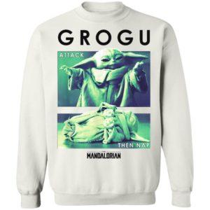 Grogu Attack The Nap Baby Yoda The Mandalorian Star Wars Shirt