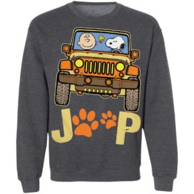 Charlie Brown And Snoopy Jeep Paw Dog Shirt