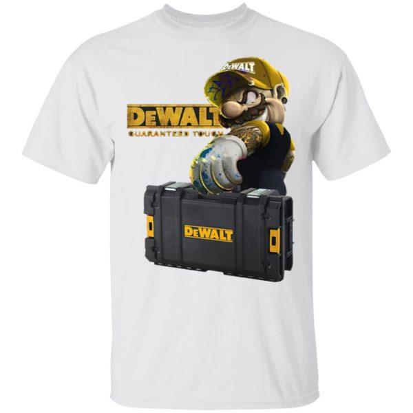 Mario Carries Suitcase Dewalt Guaranteed Tough Shirt