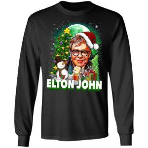 Elton John Christmas Shirt, Long Sleeve, Hoodie