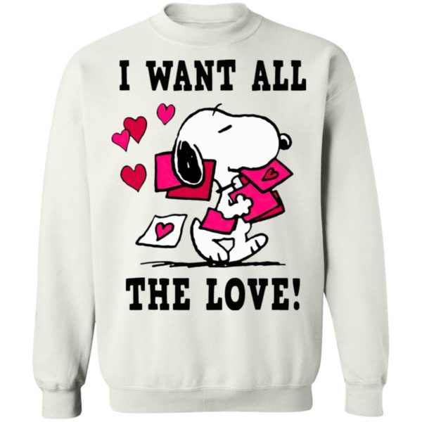 Peanuts Snoopy All the Love Valentine's Shirt