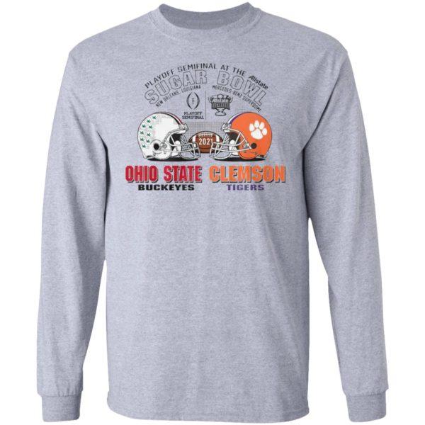 Ohio State Buckeyes Clemson Tigers Sugar Bowl Playoff Semifinals 2021 Shirt