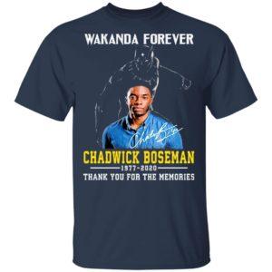 Wakanda Forever Chadwick Boseman 1977 2020 Thank You For The Memories Shirt