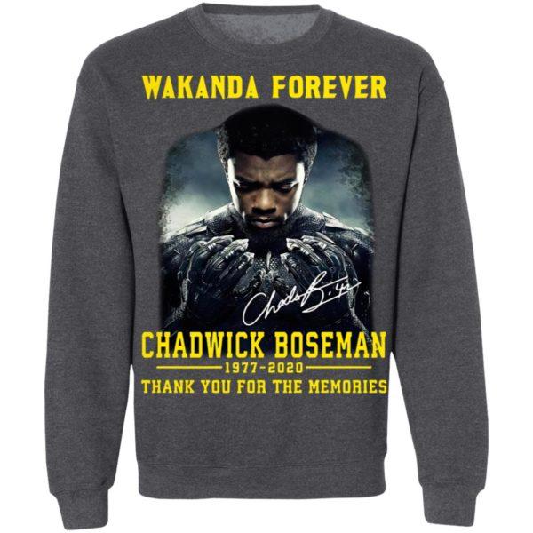 Wakanda Forever Chadwick Boseman 1977 2020 Thank You For The Memories Signature Shirt