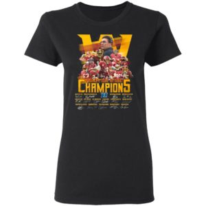 Washington Redskins Football 2020 NFC East Division Champions Signatures Shirt