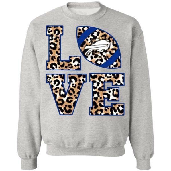 Love Buffalo Bills Football Leopard Shirt