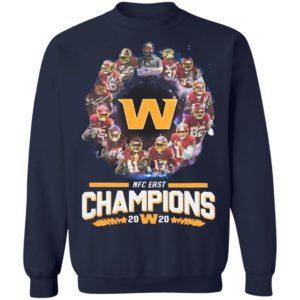 Washington Redskins Football Nfc East Champions 2020 Signatures Shirt