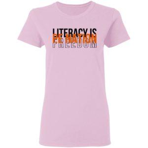 Pe Nation Literacy Is Freedom David Jones Shirt