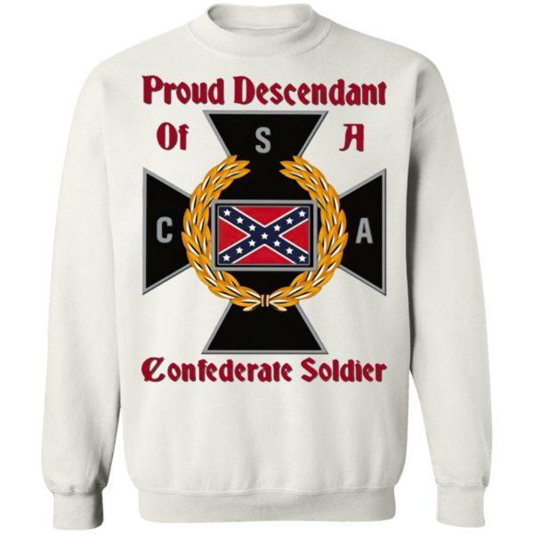 Nice CNA Proud Descendant Of A Confederate Soldier shirt