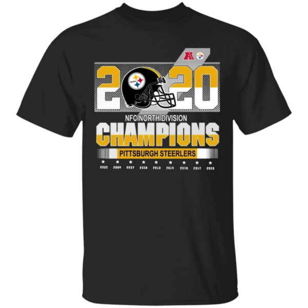 Pittsburgh Steelers Nfc North Division Champions 2002-2020 Shirt