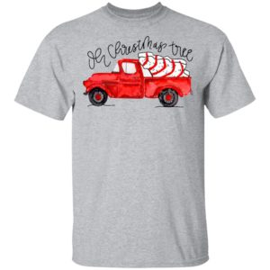 Truck Red Oh Christmas Tree Shirt