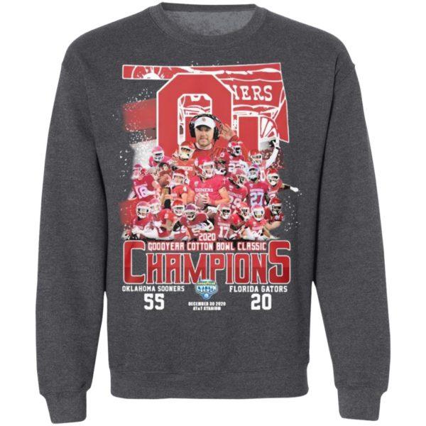 Oklahoma Sooners Florida Gators 2020 Goodyear Cotton Bowl Classic Champions Shirt