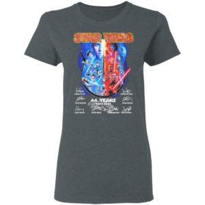 Star Wars 44 years 1977 2021 signatures shirt