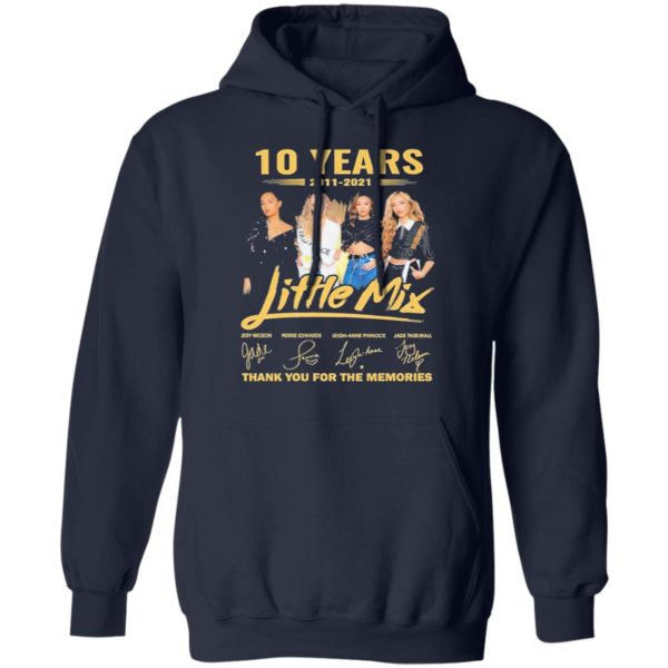 10 Years 2011-2021 Little Mix Signature Thank You For The Memories Shirt