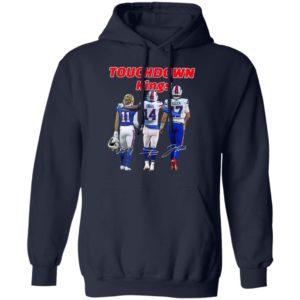 Cole Beasley Stefon Diggs and Josh Allen Buffalo Bills touchdown Kings signatures shirt