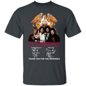 Queen 50Th Anniversary Thank You For The Memories Signatures shirt