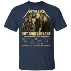 Metallica 40th Anniversary 1981 2021 Thank You For The Memories Signatures Shirt