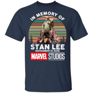 In Memory Of Stan Lee November 12 2018 Marvel Studios Signature Retro Shirt