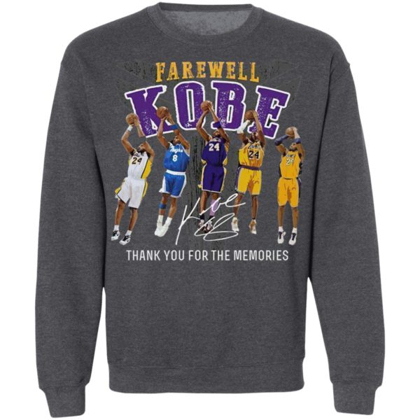 Farewell Kobe Thank You For The Memories Signature Shirt