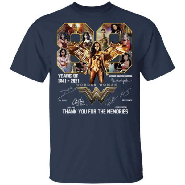80 Years Of 1941-2021 Thank You For The Memories Shirt