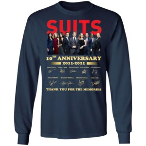Suits 9th Anniversary 2011 2020 Thank You For The Memories Signatures Shirt